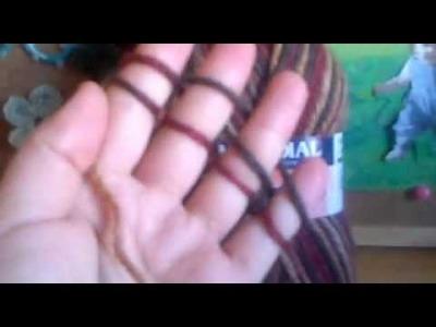 Técnica de tejer con los dedos 1.4