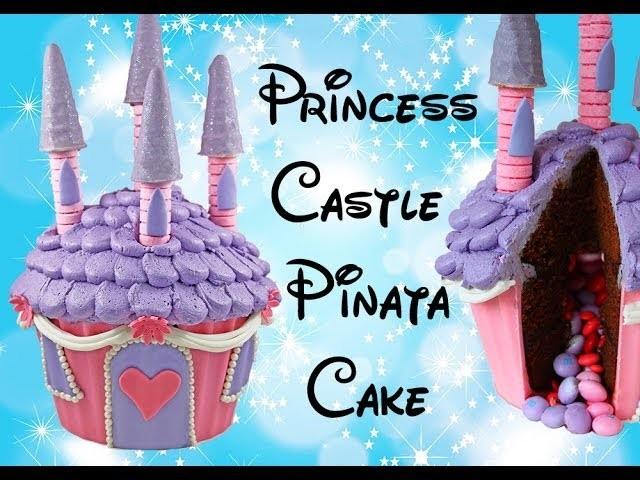 TORTA DEL CASTILLO DE LA PRINCESA -- Haz un Castillo de la Princesa de un Cupcake Gigante