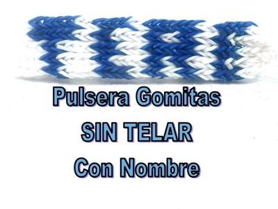 TUTORIAL PULSERA DE GOMITAS CON NOMBRE SIN TELAR.TERE.BRAZALETE CON GOMAS ELÁSTICAS NOMBRE TERE