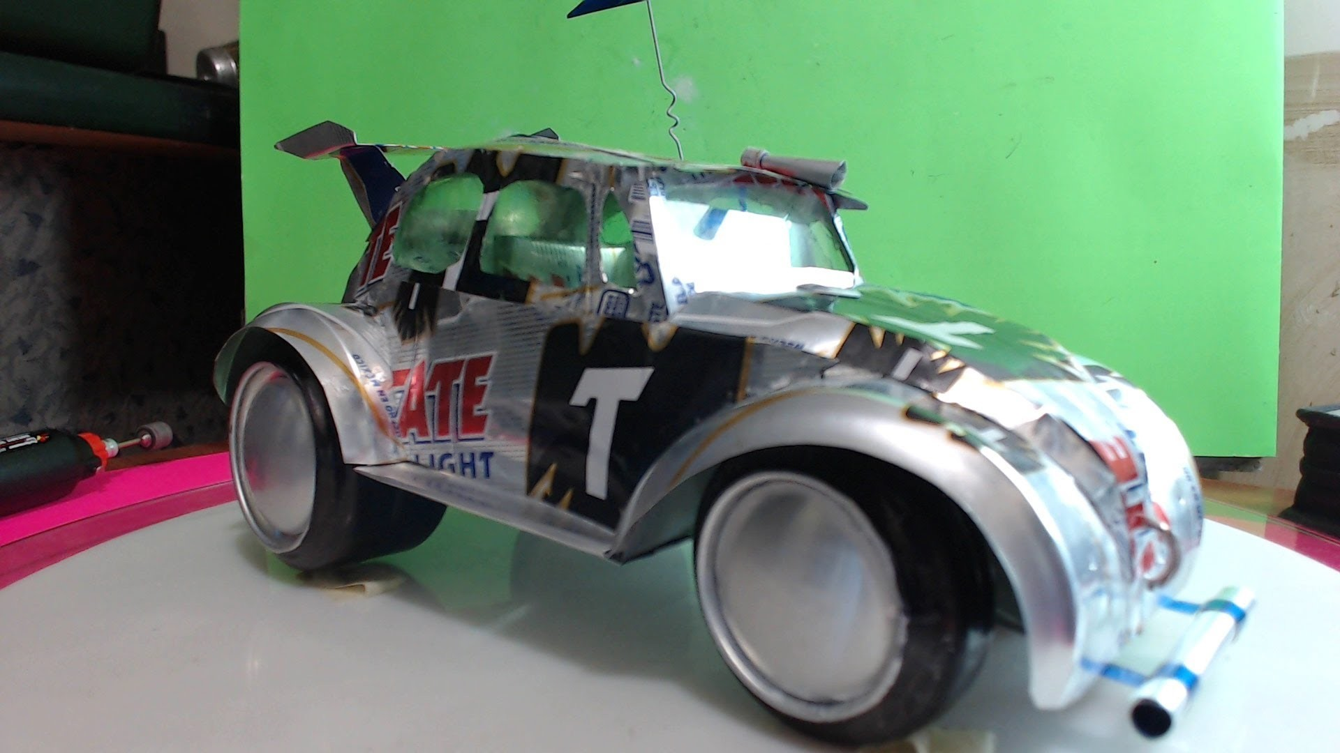 Volkswagen hecho con latas de aluminio tutorial cap. 2
