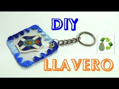 100. DIY LLAVERO(RECICLAJE DE  BOTELLAS DE PLASTICO)