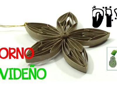 129. DIY ADORNO NAVIDEÑO (RECICLAJE DE TUBOS DE CARTON)