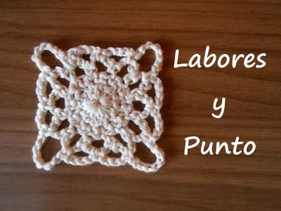 Aprende a tejer este cuadrado patchwork 2 a ganchillo o crochet