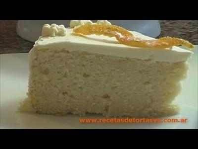 Chiffon de naranja - Bizcochuelo de Naranja - Recetas de Tortas YA!
