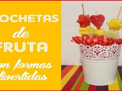 Cocina Divertida con niños: Brochetas de frutas con formas