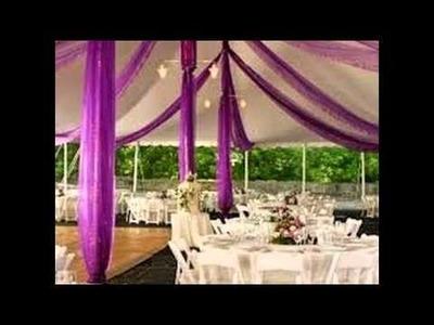 ¿Cómo decorar los salones de fiesta con telas?