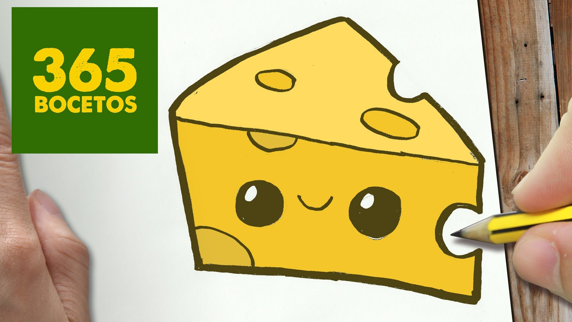 COMO DIBUJAR QUESO KAWAII PASO A PASO - Dibujos kawaii faciles - How to draw a Cheese