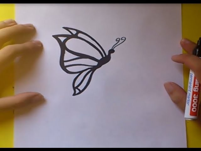 Como dibujar una mariposa paso a paso 4 | How to draw a butterfly 4