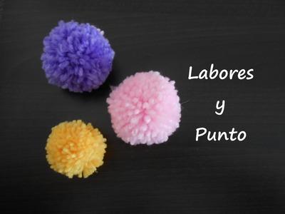 Como hacer un pompon con lana de forma tradicional