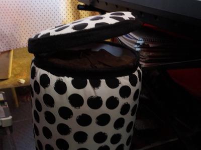 Como hacer un puff con material reciclado