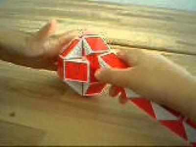 Como hacer una bola con la serpiente rubik.