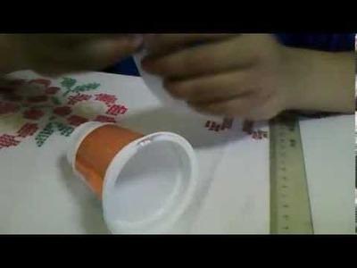 Como hacer una campana navideña con materiales resiclados