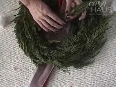 Cómo hacer una Corona de Navidad con ramas naturales