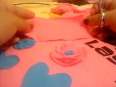 Como hacer una flor con tela
