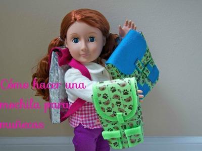 Cómo hacer una mochila para muñecas