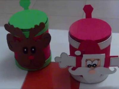 Como hacer unos dulceros navideños