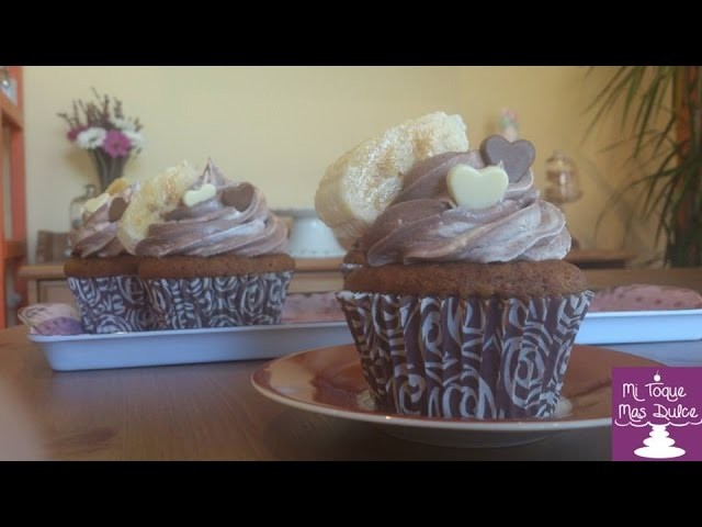 Cupcakes de plátano (banana) con chocolate :: Recetas con platano