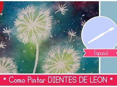 Curso de Acuarela para Principiantes: como pintar dientes de leon (FACIL!)