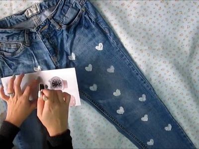 Decora tus jeans! DIY Valentines Day