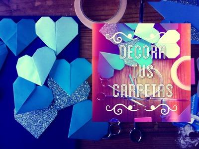 DIY Decora tus Carpetas #RegresoAClases