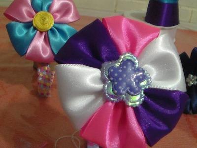 DIY Flor sencilla de liston