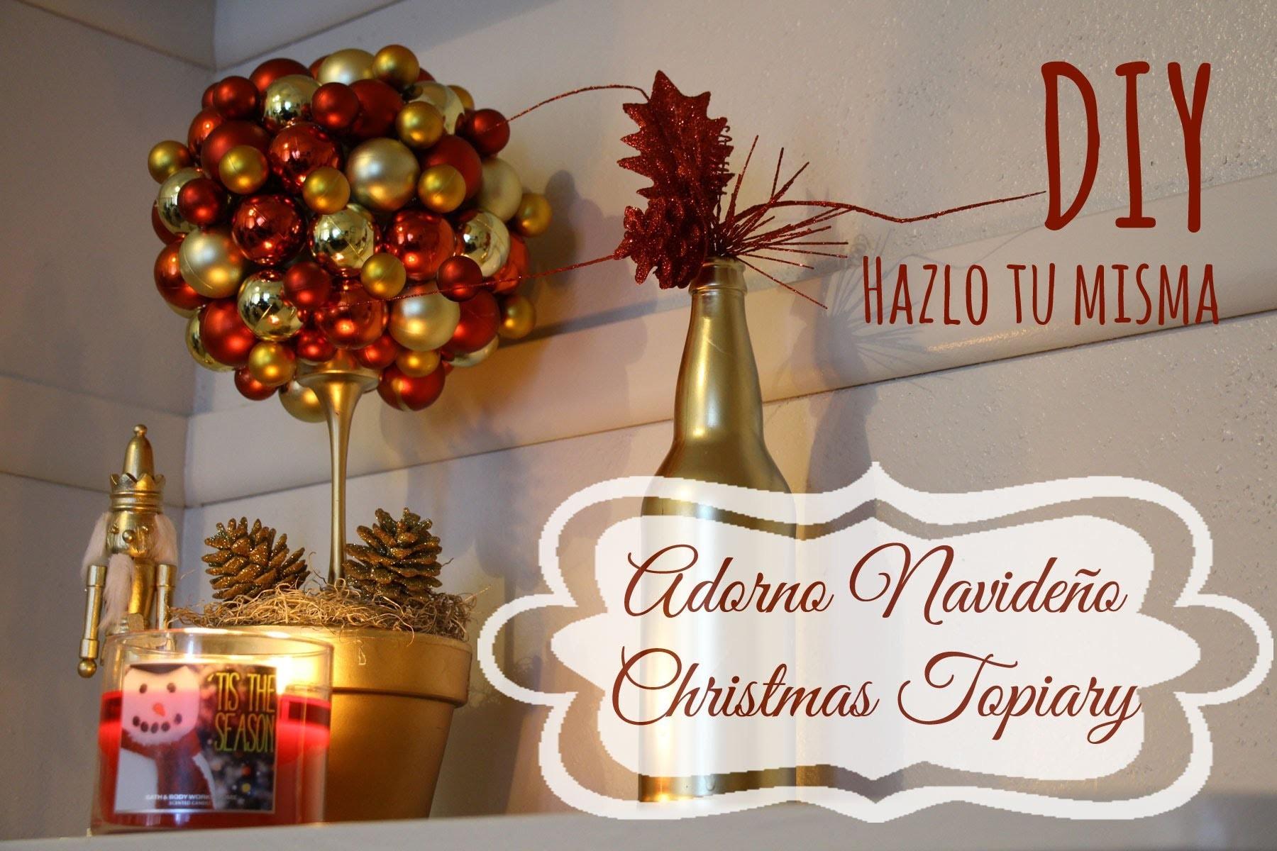DIY Hazlo tu misma Christmas Topiary, Adorno navideño
