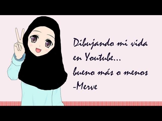 Draw my life ♡ Dibujando mi vida en Youtube.  bueno más o menos - Merve de manualidadesconninos