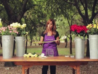 E4 COMO HACER UN CENTRO DE MESA  contemporaneo  LA VIOLETERA Florería y Escuela de diseño floral