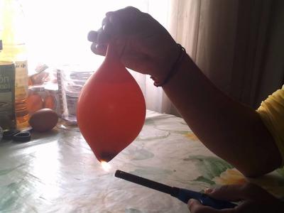 El globo que no explota (Experimentos Caseros)