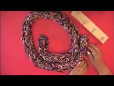 Filati Estambres aprender a tejer con  Telar 4 palos