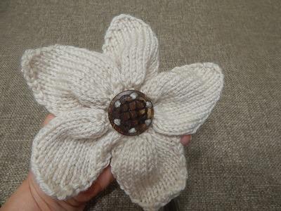 Flor # 9 dos Agujas Cinco Pétalos