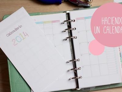 Haciendo un calendario para mi agenda