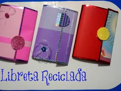Libreta reciclada - REGRESO A CLASES