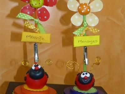 Lindos detalles  -Mariquitas- en porcelana fría  para regalar, vender, recordatorios