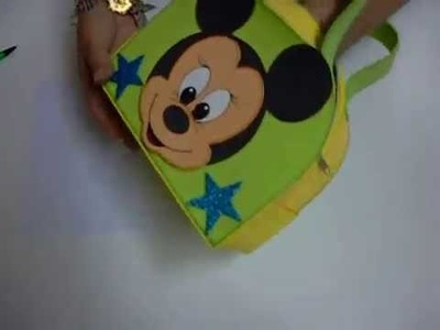 Maletita Mickey Mouse en Foami, Goma Eva, Microporoso (2da Parte)