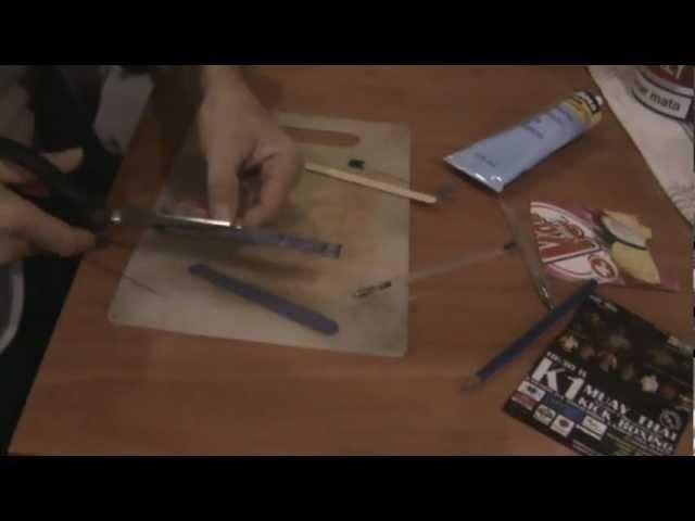 Manualidades muy faciles ( lima de uñas casera - nail file homemade )