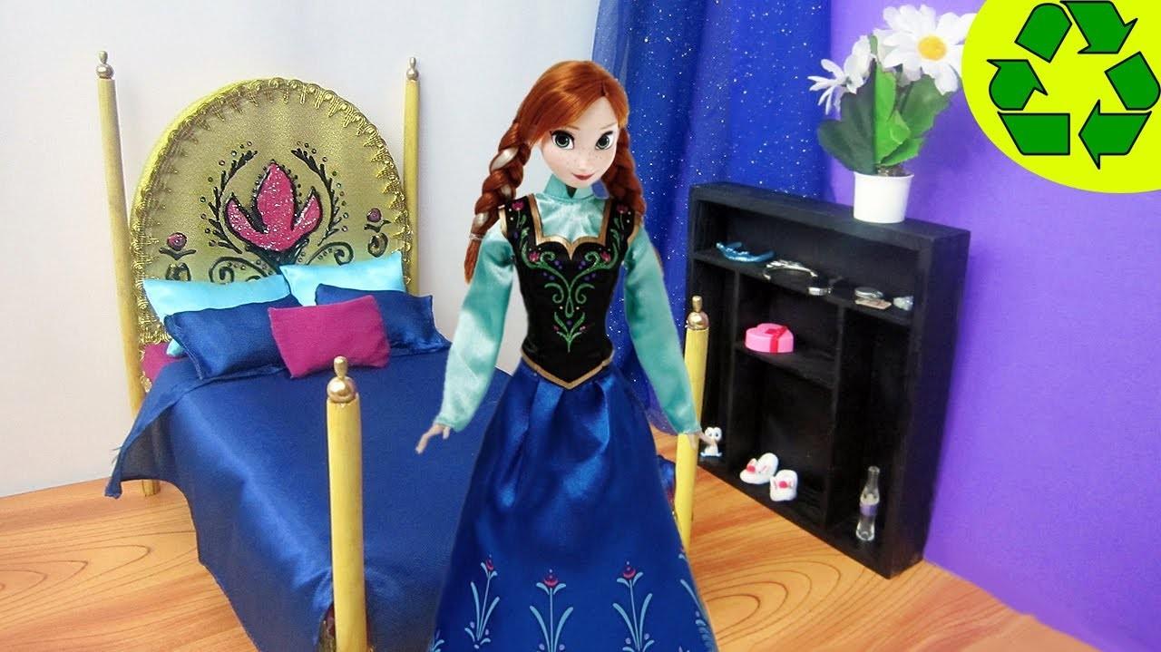 Manualidades para muñecas: Haz una cama para la muñeca Anna o Elsa de la película Frozen