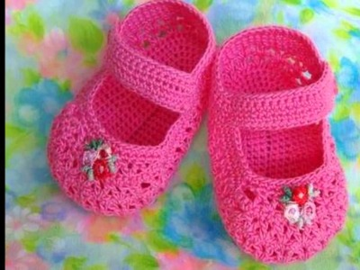 Modelos de zapatillas tejidas a ganchillo para bebe