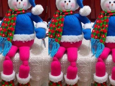 Muñeco de nieve en en paño lency