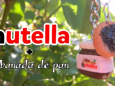 Nutella + Rebanada de Pan (Tutorial.Arcilla Polimerica)
