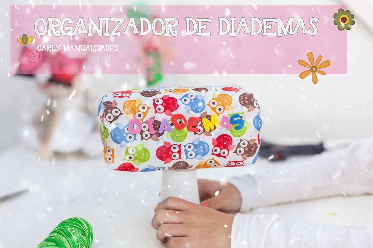 Organizador de diademas muy fácil! ( easy headband holder)