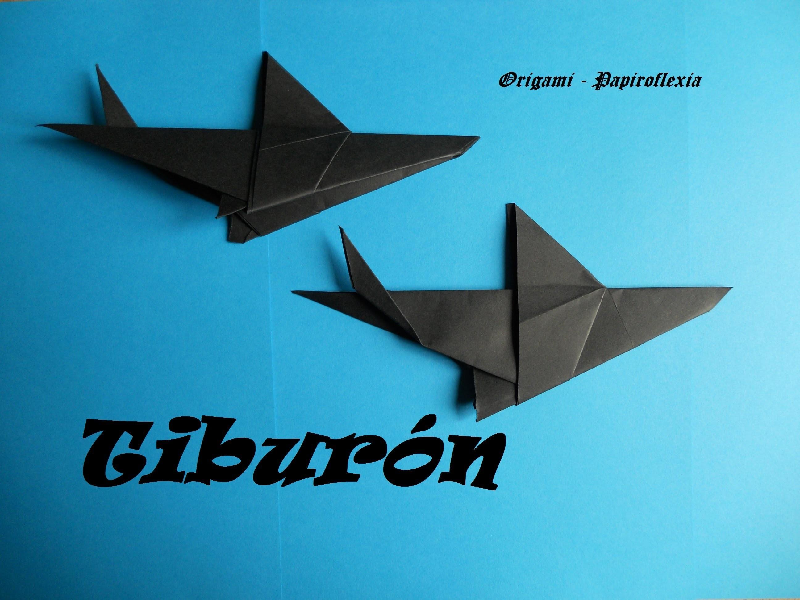 Origami - Papiroflexia. Tiburón, fácil y rápido. Shark