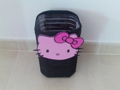Papelera reciclada Hello Kitty