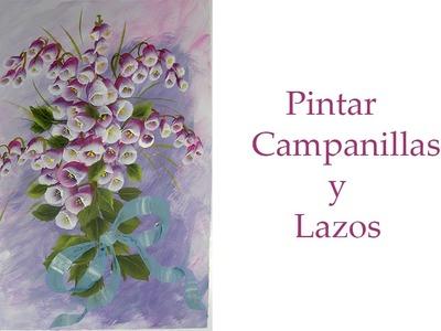 Pintar flores ,  campanillas y lazos , campanilas paint and bows
