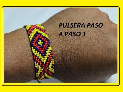PULSERA 12 MOSTACILLAS DE ANCHO PASO A PASO 1