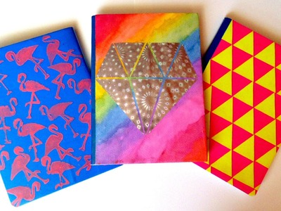 Regreso a clases. Decora tus cuadernos (3 ideas) FÁCIL