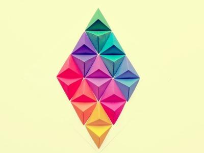 Rombo en Origami - Decoración | Manualidades - DIY
