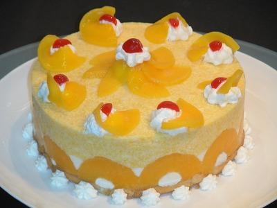Tarta helada de melocotón - La Cocina de Loli Domínguez