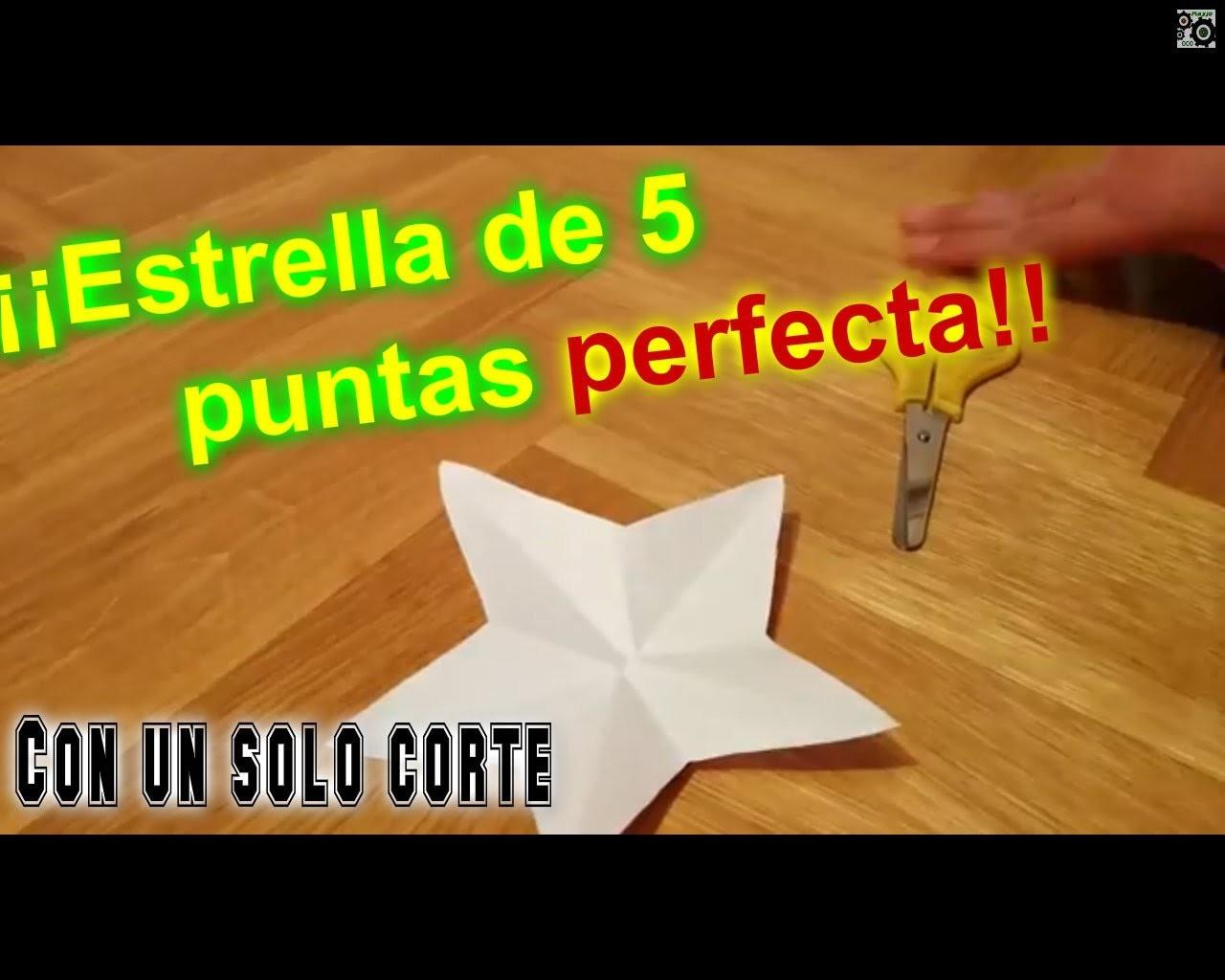 Tutorial: Cómo hacer una estrella de 5 puntas perfecta con un sólo corte.