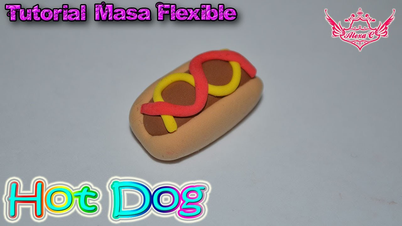 ♥ Tutorial: Hot Dog de Masa Flexible ♥